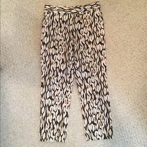 Etcetera print ankle pants